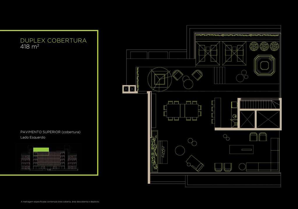 Duplex Cobertura 418m²   Superior | Arruda 168 – Apartamentono  Alto de Pinheiros - São Paulo - São Paulo