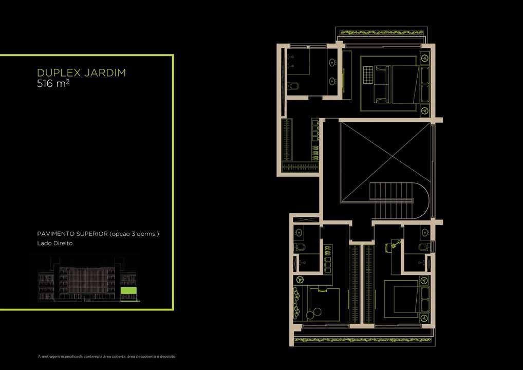 Duplex Jardim 516m²   Opção 3 Dorms. | Arruda 168 – Apartamentono  Alto de Pinheiros - São Paulo - São Paulo
