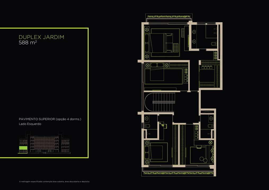 Duplex Jardim 588m²   Opção 4 Dorms. | Arruda 168 – Apartamentono  Alto de Pinheiros - São Paulo - São Paulo