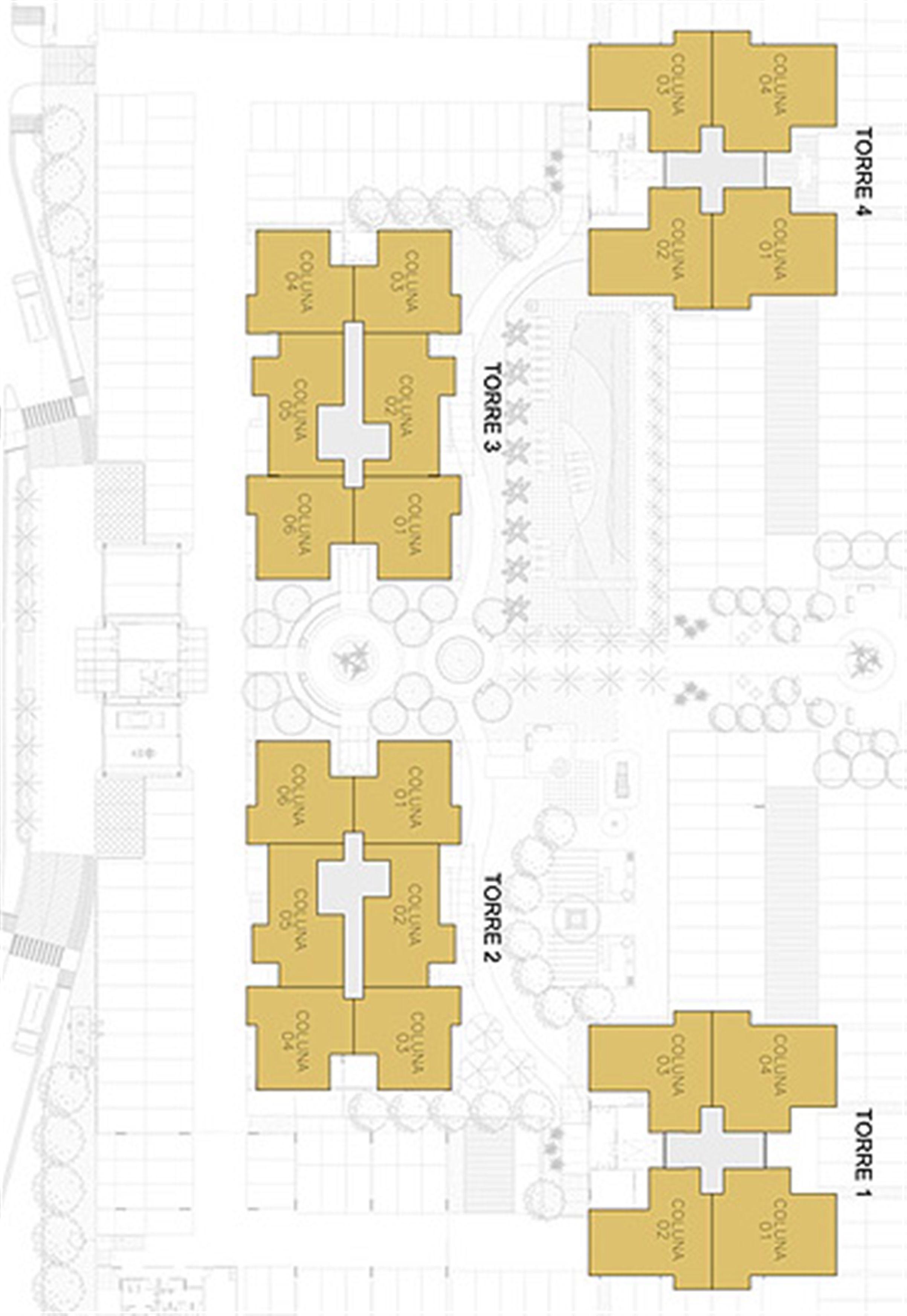 Planta Ilustrada da Posição das Unidades | Reserva Verde Residencial Park – Apartamento em  Laranjeiras - Serra - Espírito Santo