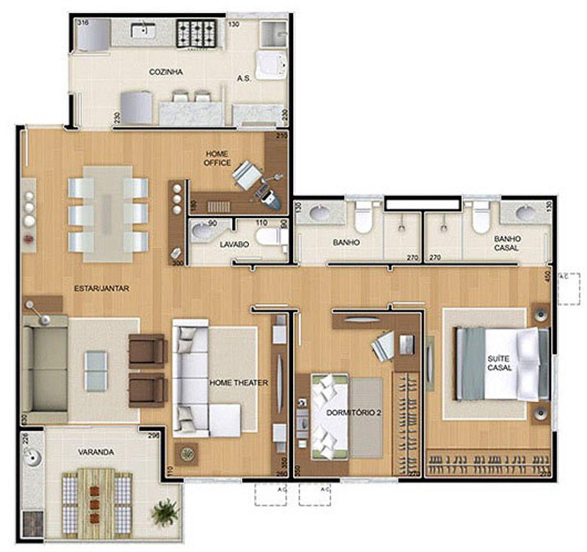 Torres 1 e 4 - 3 Quartos - 96 m² - Planta opção - 2 Quartos e Sala Ampliada | Reserva Verde Residencial Park – Apartamento em  Laranjeiras - Serra - Espírito Santo