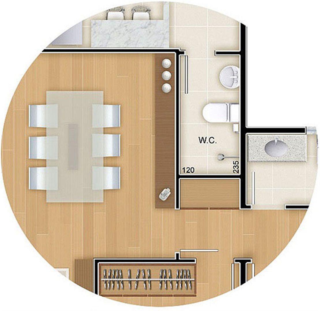 Torres 1 e 4 - 3 Quartos - 96 m² - Planta opção - Banheiro de Empregada e Roupeiro | Reserva Verde Residencial Park – Apartamento em  Laranjeiras - Serra - Espírito Santo