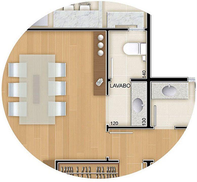 Torres 1 e 4 - 3 Quartos - 96 m² - Planta opção - Lavabo | Reserva Verde Residencial Park – Apartamentoem  Laranjeiras - Serra - Espírito Santo