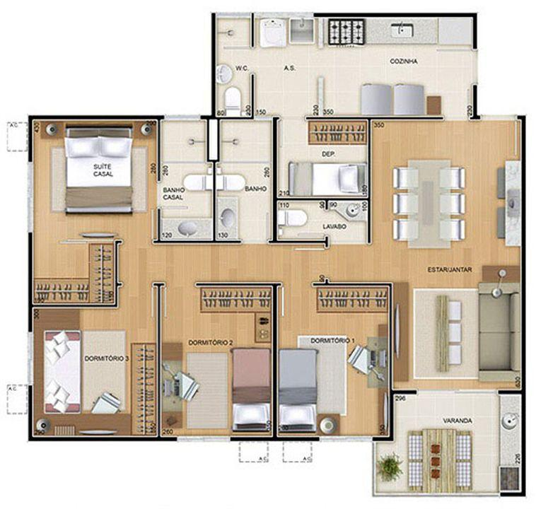 Torres 1 e 4 - 4 Quartos - 109 m² - Planta tipo | Reserva Verde Residencial Park – Apartamentoem  Laranjeiras - Serra - Espírito Santo