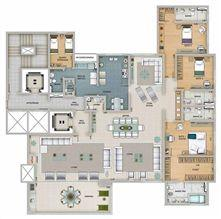 Edifício Apolo - Planta opc¸a~o do 1º ao 16º pavimento | Olympus - Apolo e Athena – Apartamento na  Vila da Serra - Nova Lima - Minas Gerais