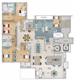 Edifício Athena - Planta do 17º pavimento | Olympus - Apolo e Athena – Apartamento na  Vila da Serra - Nova Lima - Minas Gerais