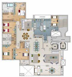 Edifício Athena - Planta do 19º e 21º pavimento | Olympus - Apolo e Athena – Apartamento na  Vila da Serra - Nova Lima - Minas Gerais