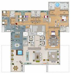 Edifício Zeus - Planta do 1º ao 8º pavimento | Olympus - Apolo e Athena – Apartamento na  Vila da Serra - Nova Lima - Minas Gerais