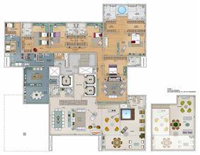 Edifício Zeus - Planta do 18º, 20º e 22º pavimento | Olympus - Apolo e Athena – Apartamento na  Vila da Serra - Nova Lima - Minas Gerais
