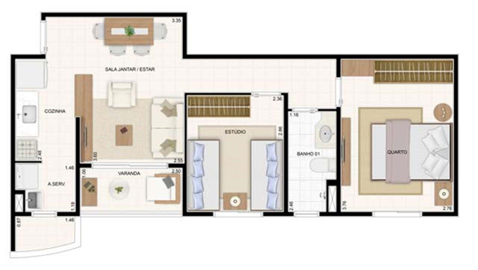 2 dorms 49,61m² 2 dorms 55m²   Vita 2 Residencial Clube – Apartamento no  Pitimbu - Natal - Rio Grande do Norte