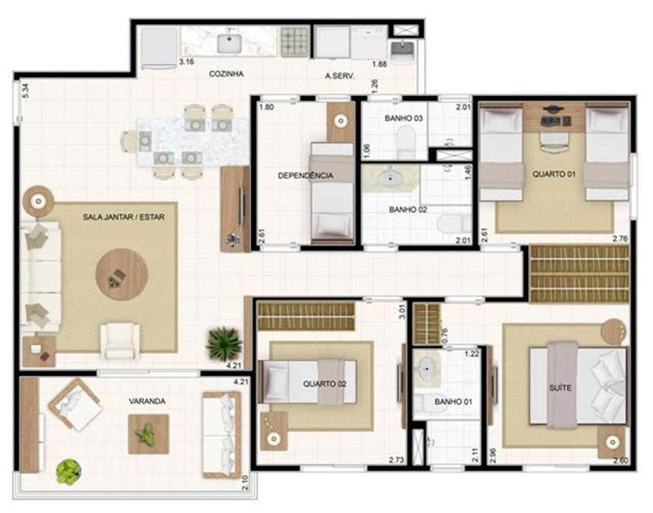 3 dorms 89,19m²   Vita 2 Residencial Clube – Apartamentono  Pitimbu - Natal - Rio Grande do Norte