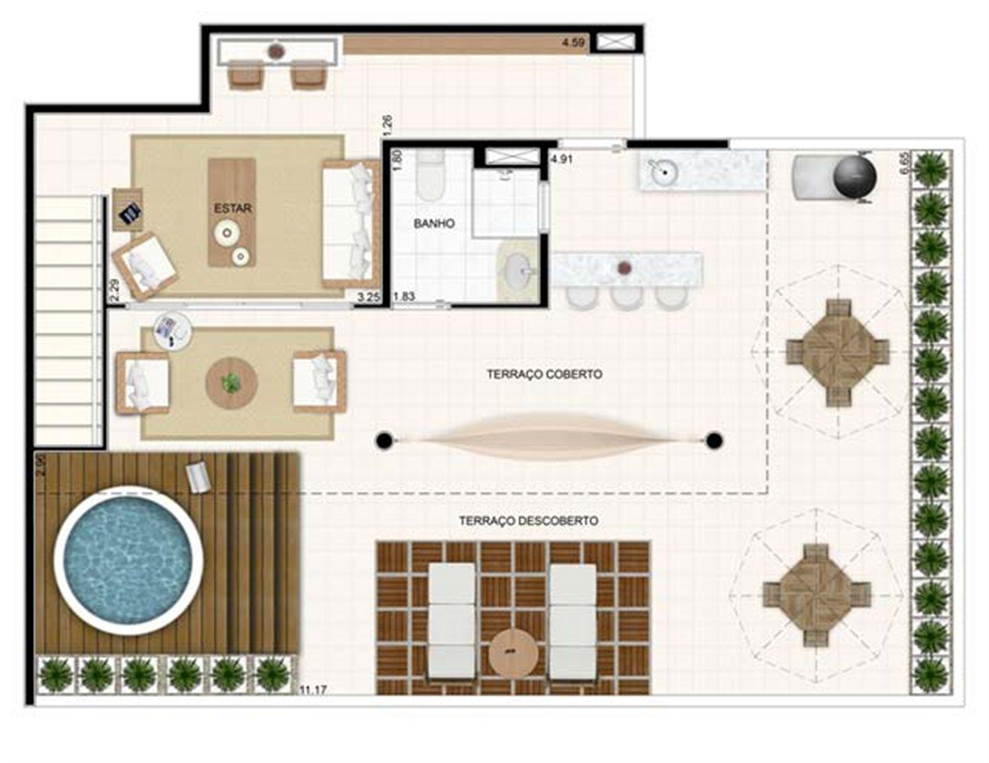 Duplex Superior 176,57m²   Vita 2 Residencial Clube – Apartamento no  Pitimbu - Natal - Rio Grande do Norte