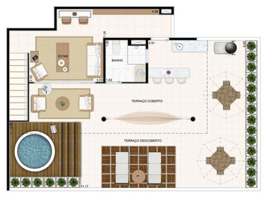 Duplex Superior 176,57m²   Vita 2 Residencial Clube – Apartamentono  Pitimbu - Natal - Rio Grande do Norte