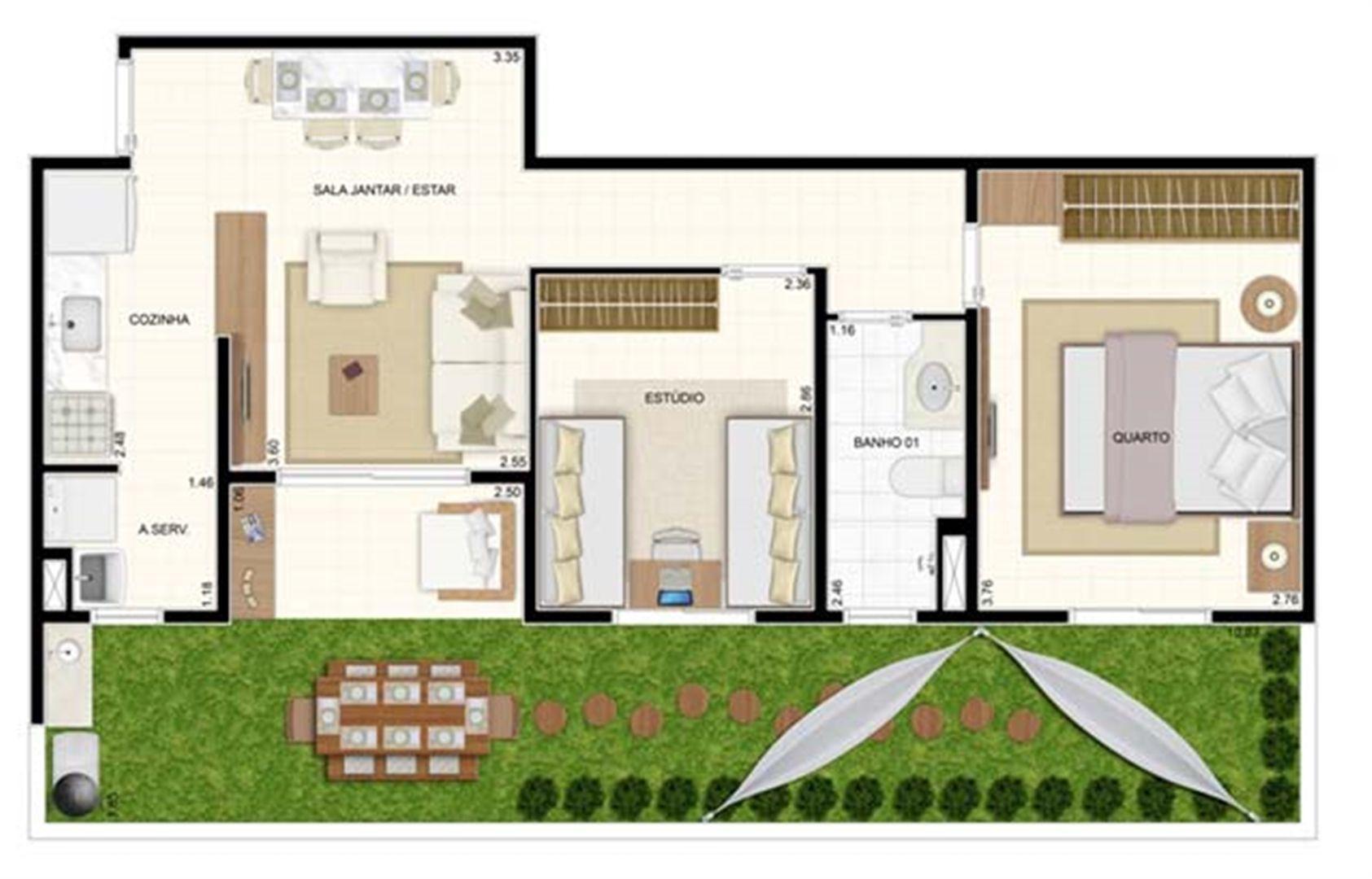 Giardino 2 dorms 70m²   Vita 2 Residencial Clube – Apartamento no  Pitimbu - Natal - Rio Grande do Norte