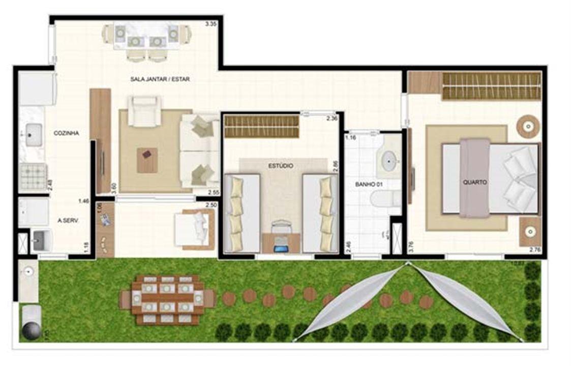 Giardino 2 dorms 70m²   Vita 2 Residencial Clube – Apartamentono  Pitimbu - Natal - Rio Grande do Norte