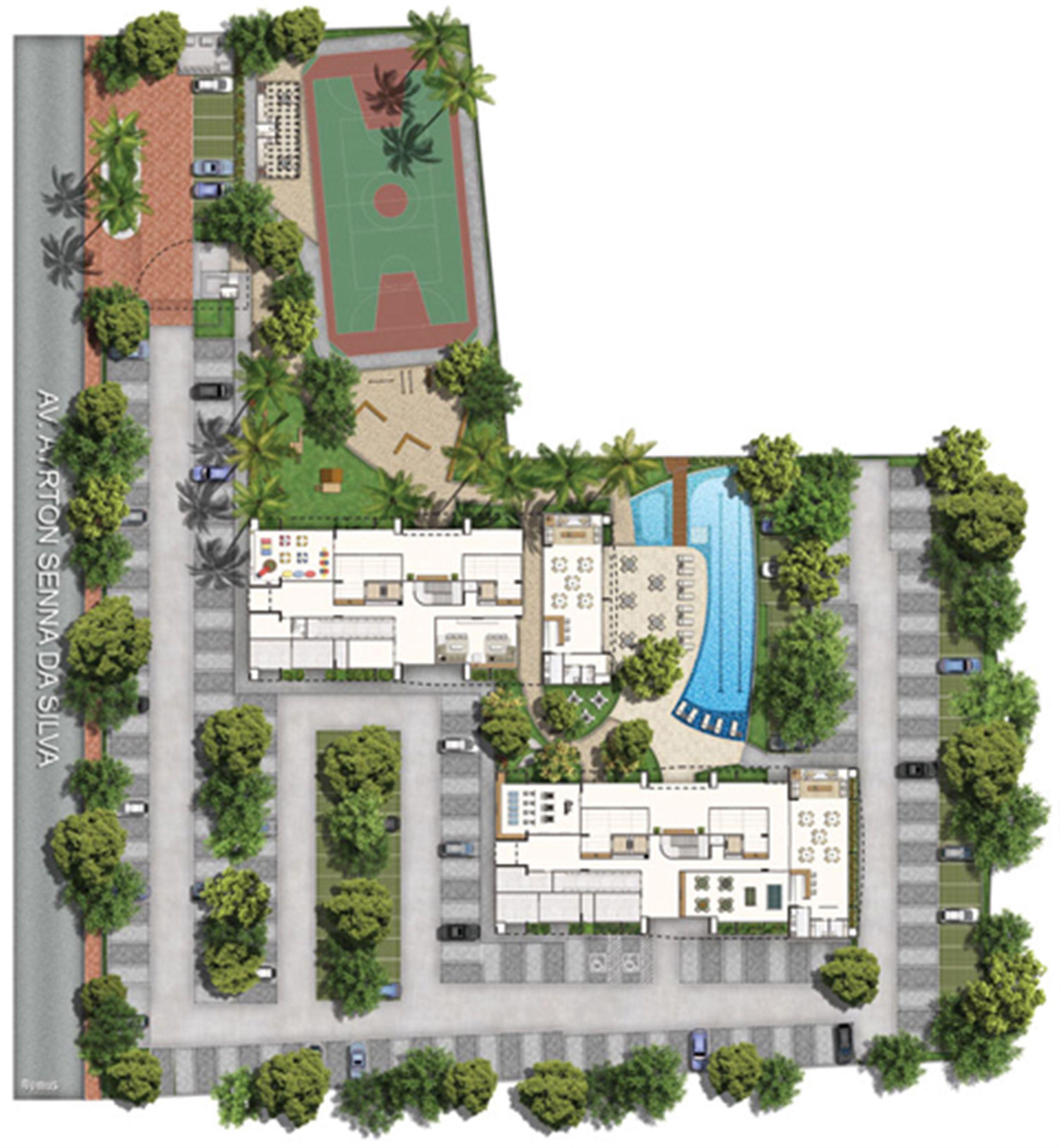 Planta:  | Vita Praia - Recife - Apartamento em Piedade - Recife Pernambuco
