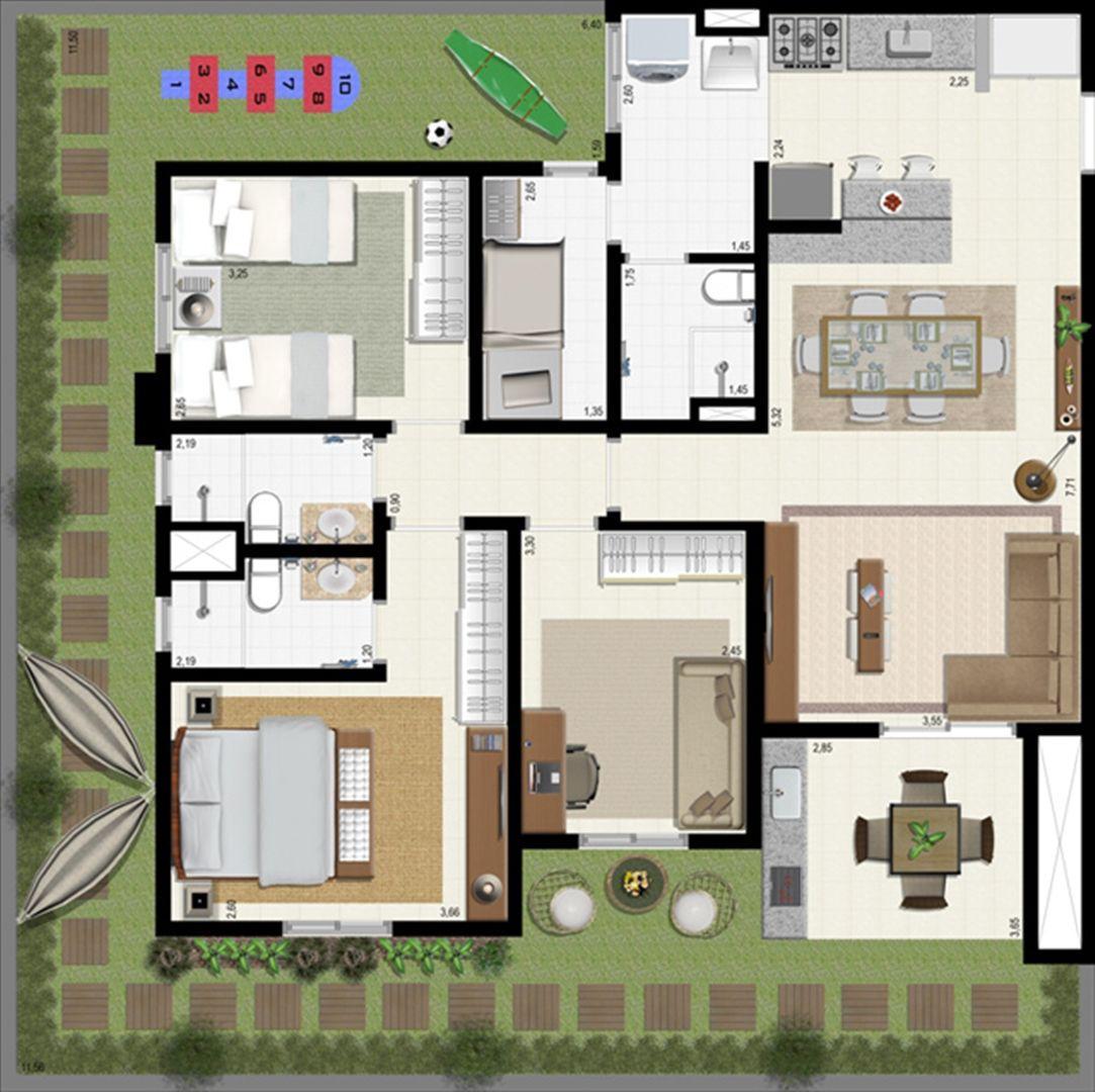Planta giardino 140 m² B | L´Acqua Condominium Club – Apartamento em  Neópolis - Natal - Rio Grande do Norte