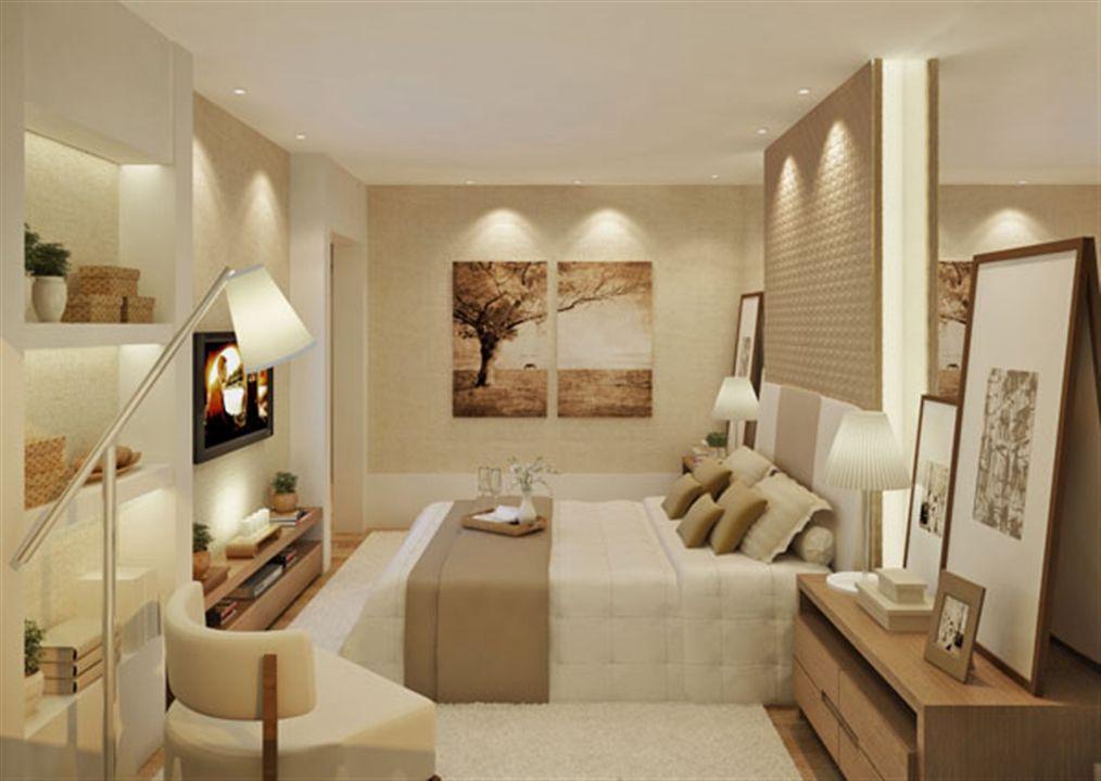Perspectiva ilustrada da suíte apartamento decorado 170,18m²