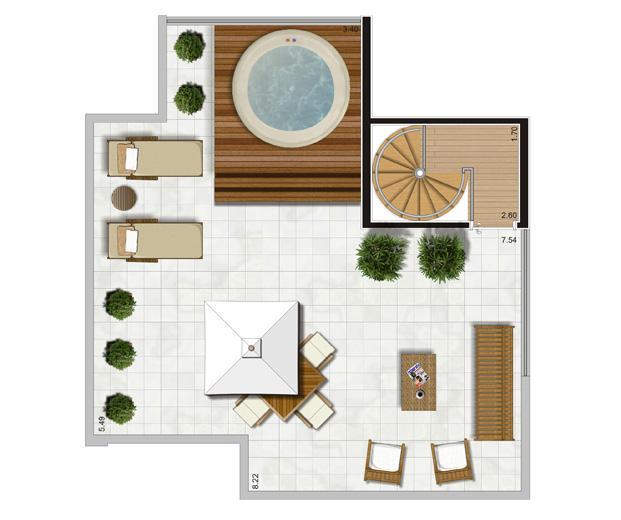 Planta Duplex Superior - 116,5m² Privativos | Andalus by Cyrela – Apartamento no  Morumbi - São Paulo - São Paulo