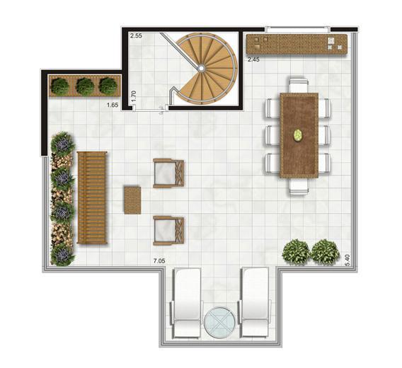 Planta Duplex Superior - 90,5m² Privativos | Andalus by Cyrela – Apartamento no  Morumbi - São Paulo - São Paulo