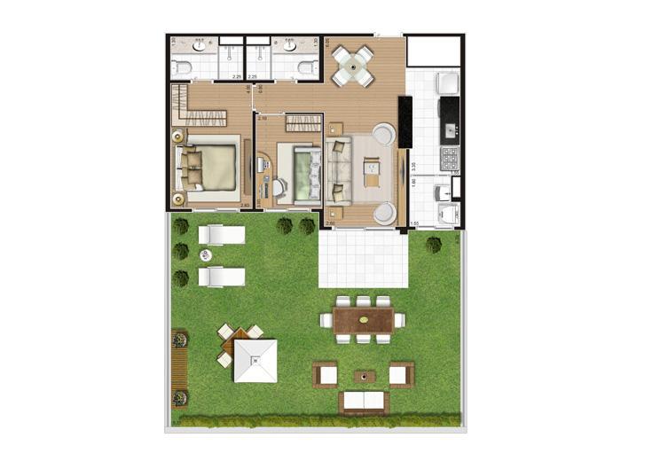 Planta Giardino - 120,5m² Privativos | Andalus by Cyrela – Apartamento no  Morumbi - São Paulo - São Paulo