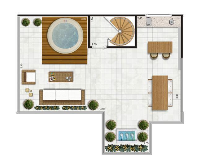 Planta Piso Superior Duplex - 122m² Privativos | Andalus by Cyrela – Apartamento no  Morumbi - São Paulo - São Paulo