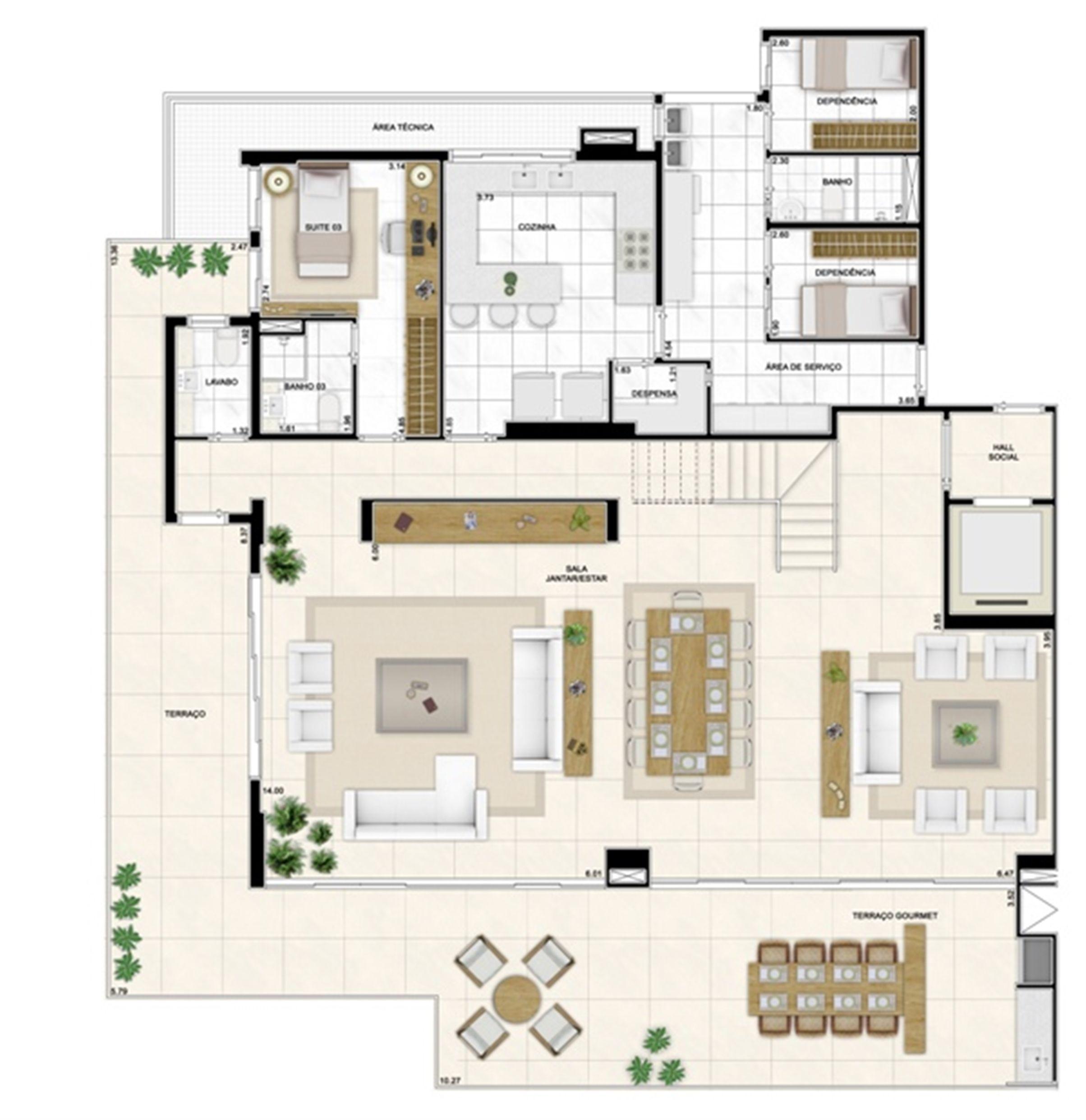Planta Duplex Inferior 406m² | Infinity Areia Preta – Apartamento na  Areia Preta - Natal - Rio Grande do Norte