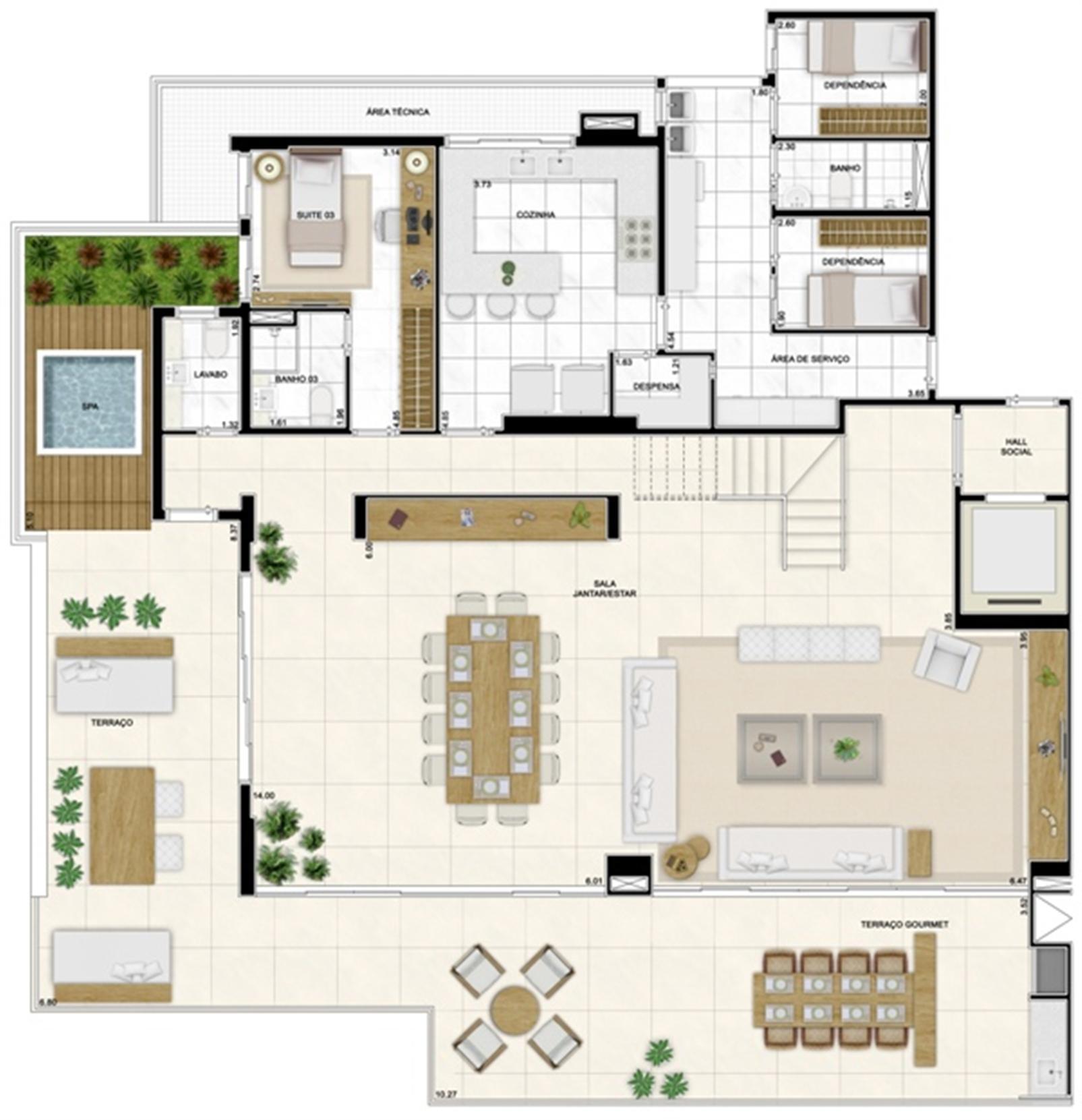 Planta Duplex Inferior 422m² | Infinity Areia Preta – Apartamentona  Areia Preta - Natal - Rio Grande do Norte