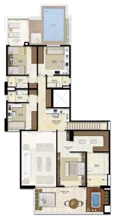 Opção 2 - duplex - 330 m² de área privativa | Vitrine Umarizal – Apartamento em  Umarizal  - Belém - Pará