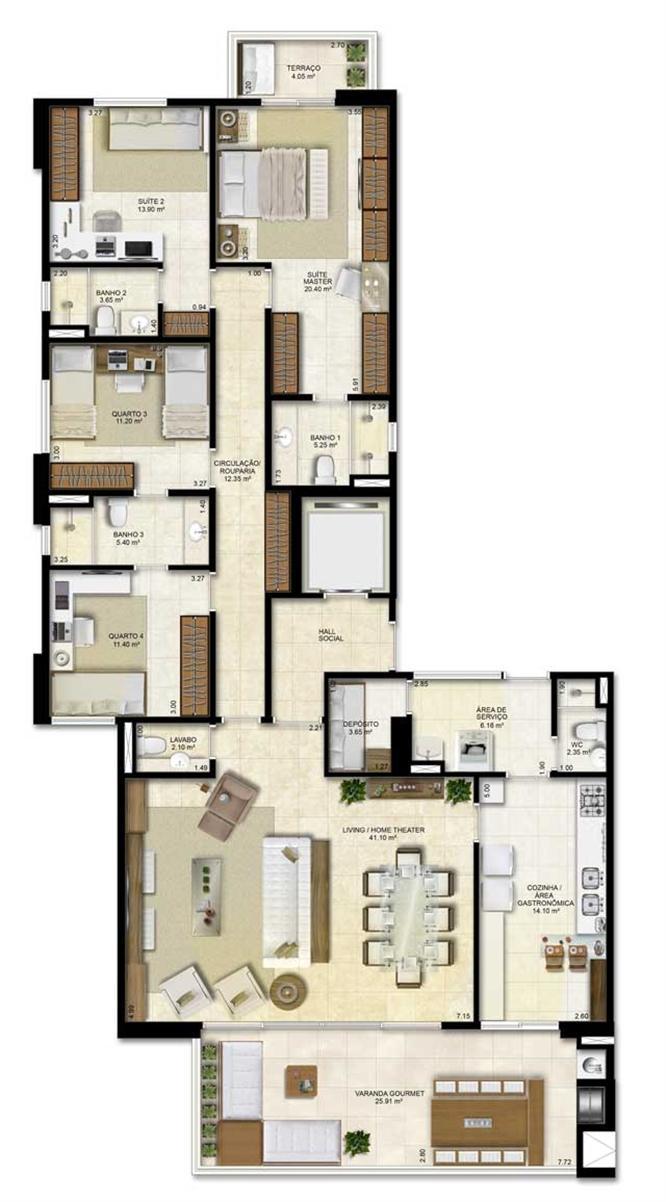 Planta:    Vitrine Umarizal - Apartamento em Umarizal  - Belém PA