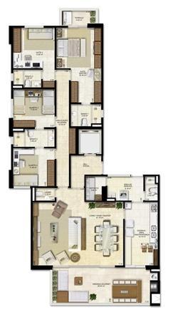 Opção de planta com 4 suítes sendo 2 canadenses - 183 m² de área privativa | Vitrine Umarizal – Apartamento em  Umarizal  - Belém - Pará