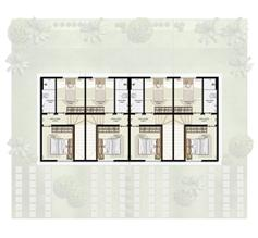 Planta 2 quartos - 1º pavimento - 55 m² - Casa Quádrupla | Casas do Bosque – Casa no  Cají - Lauro de Freitas - Bahia