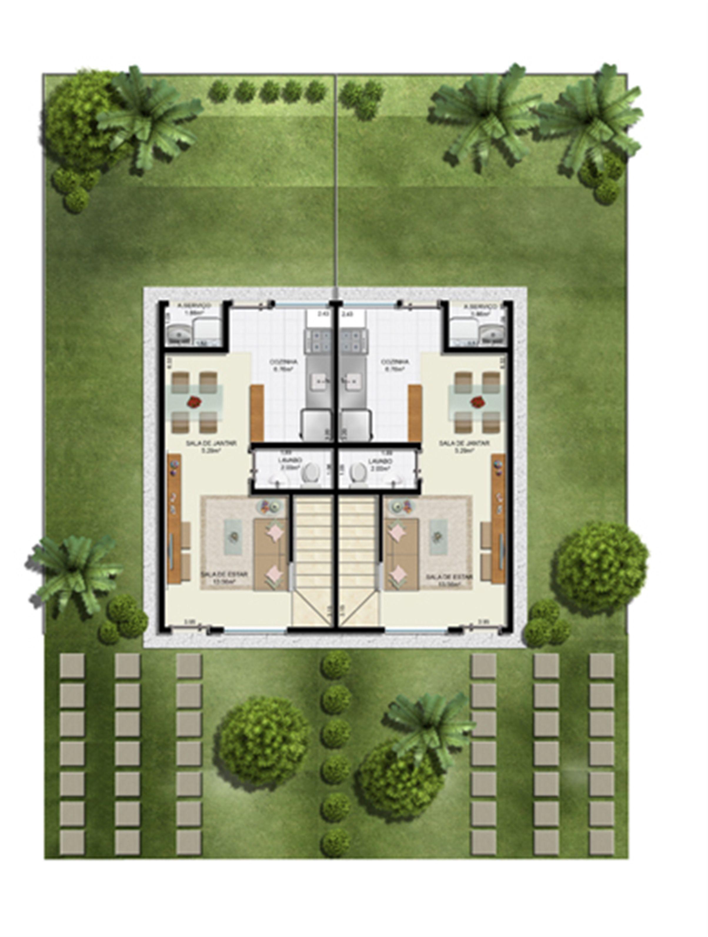 Planta:  | Casas do Bosque - Casa no Cají - Lauro de Freitas BA