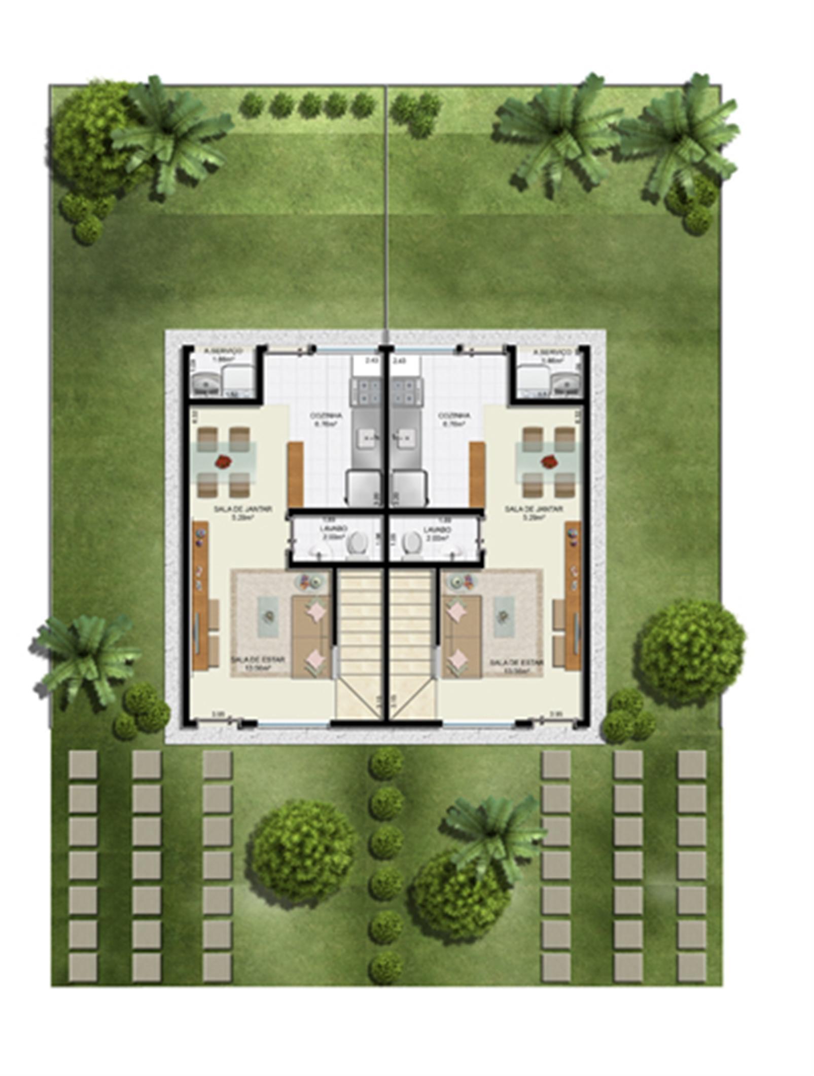 Casas do bosque for Casa planta ramallosa