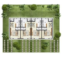Planta 2 quartos - Térreo - 55 m² - Casa Quádrupla | Casas do Bosque – Casa no  Cají - Lauro de Freitas - Bahia