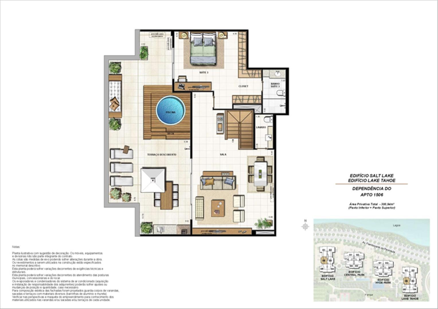 Ed. Salt Lake e Ed. Lake Tahoe - Cob. 300 m² (duplex - pav. superior) | 360º On The Park – Apartamento na  Barra da Tijuca - Rio de Janeiro - Rio de Janeiro