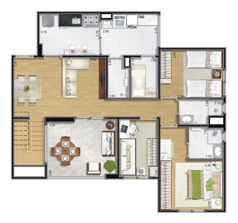 Cobertura Duplex Inferior | Camino – Apartamentono  Belém - São Paulo - São Paulo