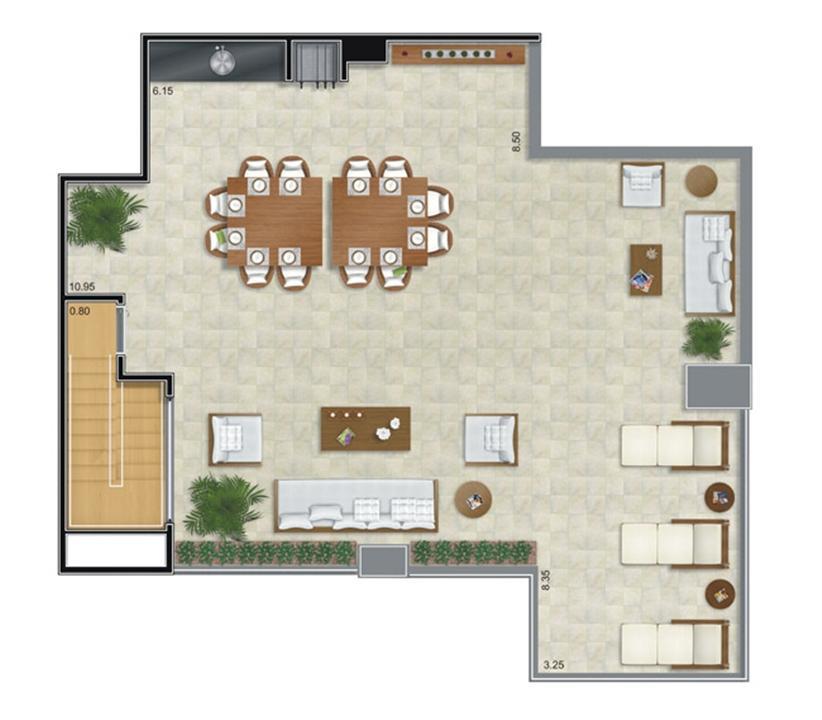 Cobertura Duplex Superior | Camino – Apartamentono  Belém - São Paulo - São Paulo