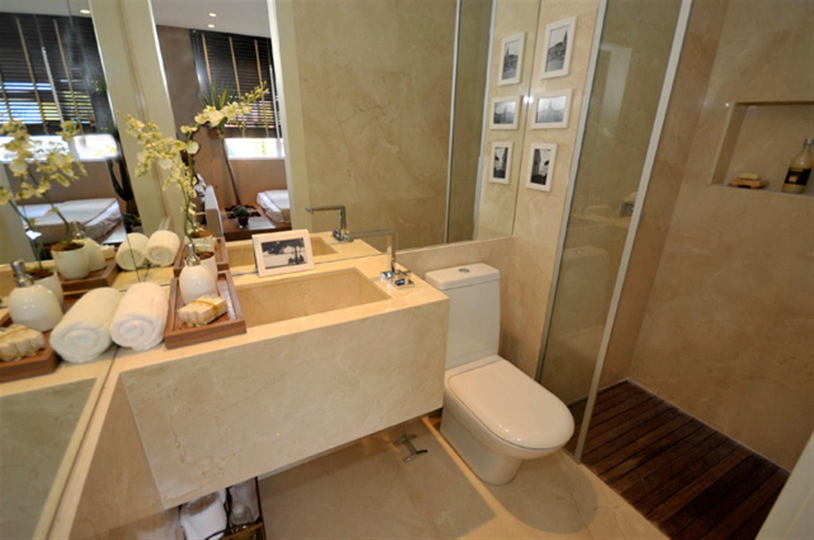 apartamento mandarim belem apartamento decorado apartamento 50 m 9  #986E33 1626x1080 Banheiro Apartamento Decorado