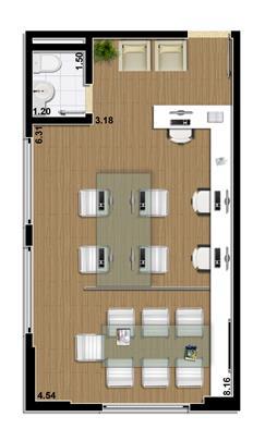 Planta Sala comercial 41 m² | Mirai – Salas Comerciais em  Umarizal  - Belém - Pará