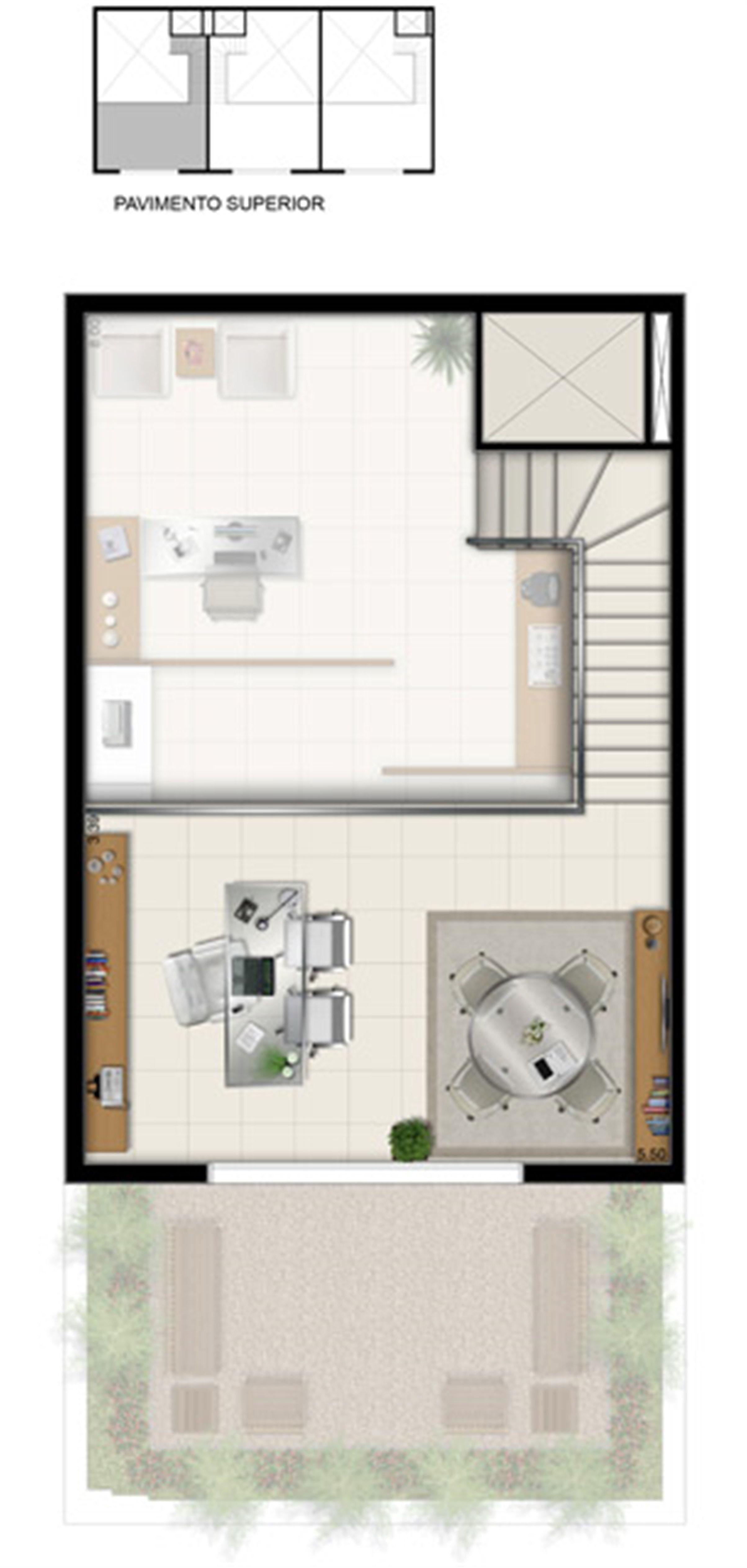 Duplex Superior - Área total 84,50 m² | Pátio Jardins – Salas Comerciais em  Altos do Calhau - São Luís - Maranhão