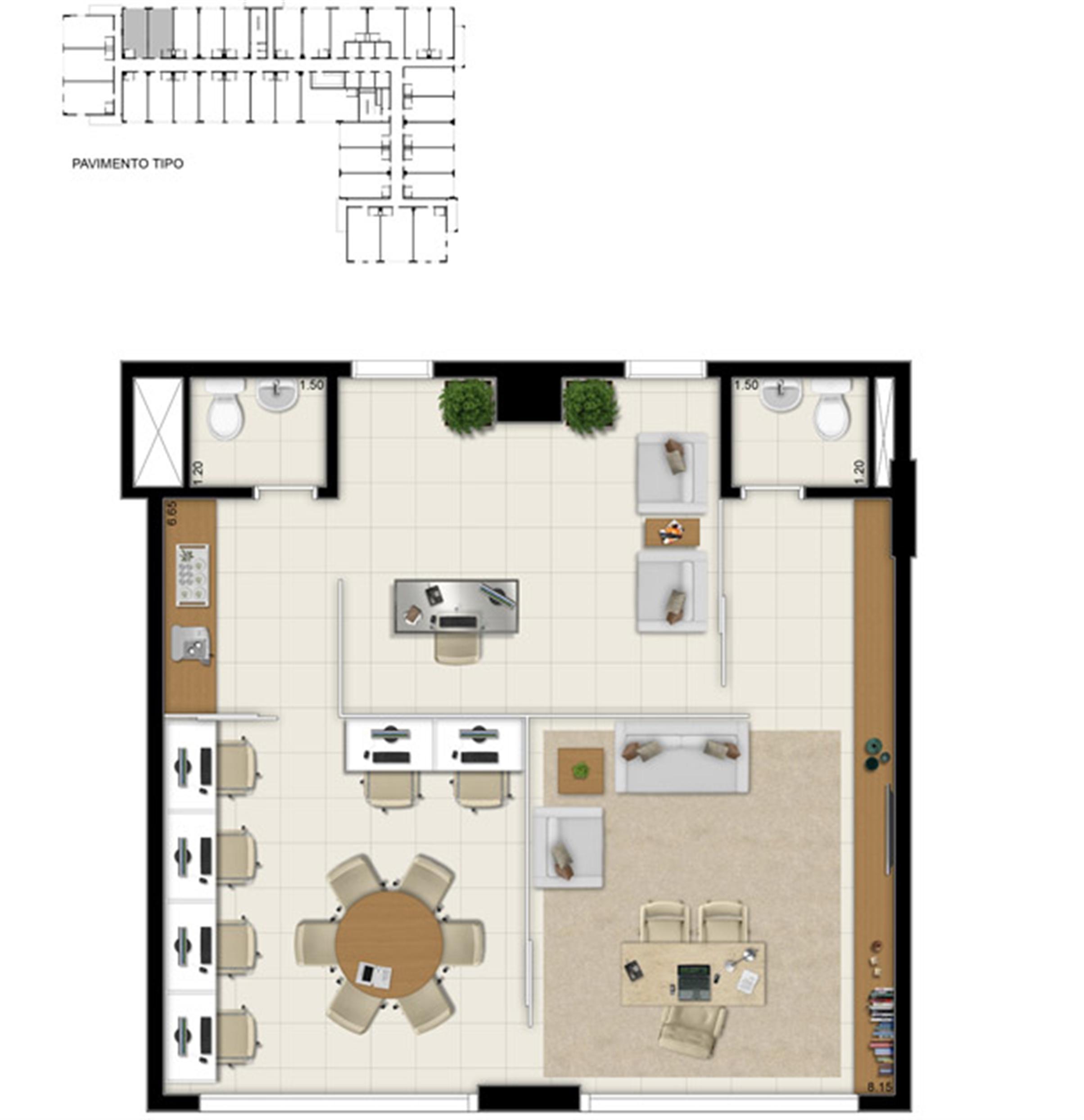 Sala comercial 69,20 m² - Sugestão de junção | Pátio Jardins – Salas Comerciais em  Altos do Calhau - São Luís - Maranhão