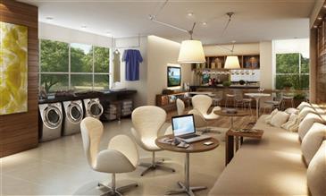 Perspectiva Ilustrada do Cyber Café e Laundry