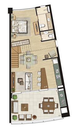 Duplex de 111m² privativos Inferior | Thera Residence – Apartamento na  Berrini - São Paulo - São Paulo