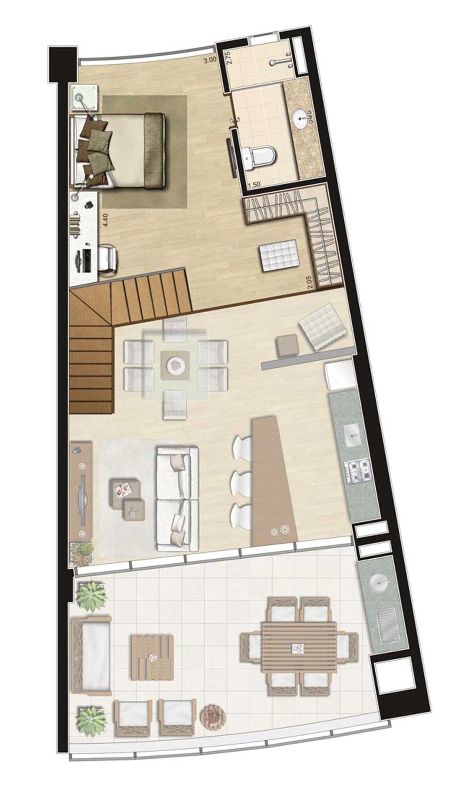 Duplex de 111m² privativos Superior | Thera Residence – Apartamentona  Berrini - São Paulo - São Paulo