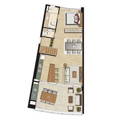 Loft com mezanino | Thera Residence – Apartamento na  Berrini - São Paulo - São Paulo