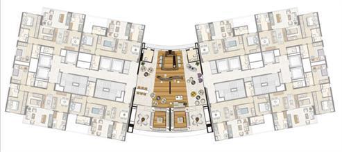 Planta 21ºPav Sky Lounge | Thera Residence – Apartamento na  Berrini - São Paulo - São Paulo
