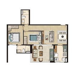 Planta Tipo 66m² privativos | Thera Residence – Apartamento na  Berrini - São Paulo - São Paulo