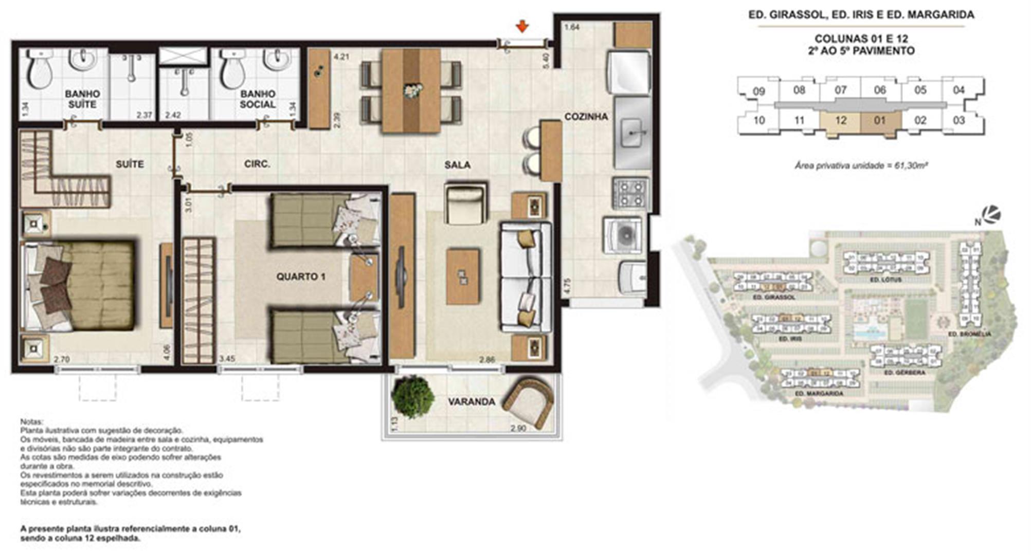 Planta:  | Floris Bosque Residencial - Apartamento em Jacarepaguá - Rio de Janeiro Rio de Janeiro