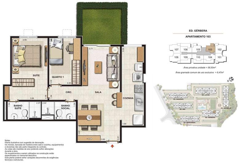 Imagem Planta | Floris Bosque Residencial – Apartamento em  Jacarepaguá - Rio de Janeiro - Rio de Janeiro
